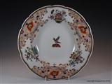 Pair Chamberlains Armorial Porcelain Worcester Plates HORROCKS Family Preston Cotton Martyrs