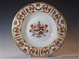 Derby Armorial Porcelain Plate COLLINSON Impaling SOWERBY Chantry Park Ipswich East India Company Civil Service