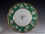 Flight Barr Barr Armorial Porcelain Worcester Plate WOODROFFE Woodruff  Family Crest Coat Arms