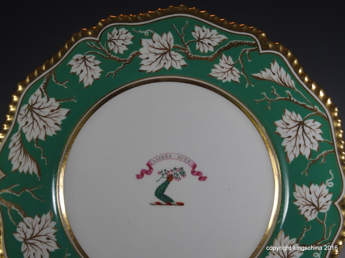 Flight Barr Barr Armorial Porcelain Worcester Plate