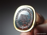 Georgian or Victorian Fob Seal Maritime BEAUFORT SOMERSET Family Crest Coat Arms Portcullis ANCHOR