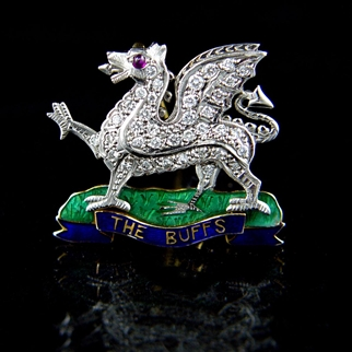 The Buffs (Royal East Kent Regiment) Regimental Brooch