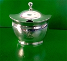 A George III antique silver mustard pot London 1802