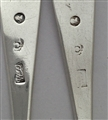 Two Antique Scottish Sterling Silver Hallmarked George III Old English Pattern Tea Spoons Circa 1795