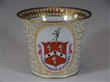 Chamberlains Worcester Armorial Porcelain Cup FEATHERSTON  FETHERSTON or FETHERSTONEHAUGH PERKINSON Family Coat Arms Crest