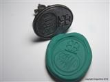 Fine Georgian Steel Armorial Intaglio Wax Seal Fob