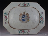 Chinese Armorial Porcelain Charger Platter JENKINSON Coat Arms Crest