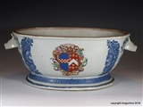 Chinese Armorial Porcelain Tureen BOYD of Kilmarnock