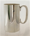 Antique Victorian Silverplated Pint Mug with Glass Bottom, c. 1890