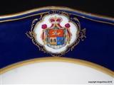Armorial Porcelain Plate MEISSEN PRINCE GOLITSYN  Russia Romanov  князь Голицын