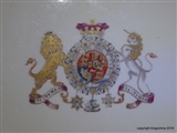 Royal Armorial Porcelain Plate DUKE CLARENCE (Later KING William IV)