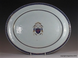 Chinese Armorial Porcelain Plate MACARTHUR McarthurCoat Arms Crest Family