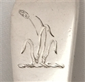 Antique George III Sterling Silver Old English pattern dessert spoon 1779