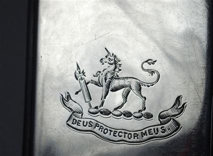 Hallmarked Silver Case HUMPHREY family Crest