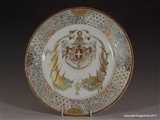 KING VITTORIO EMANUELE ITALY Savoy Armorial Porcelain JAPANESE Plate