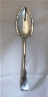 Antique George III Sterling Silver Old English Pattern Tablespoon 1797
