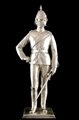 Presentation Silver Figure of a Victorian Line Infantry Officer, 1881-1902