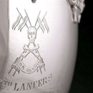17th (Duke of Cambridge's Own) Lancers - Silver Bowl, 1903