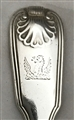 George III Hallmarked Sterling Silver Fiddle Thread and Shell Pattern Dessert Spoon 1824