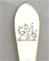 Antique Irish Sterling Silver George III Pointed Old English Pattern Teaspoon 1790
