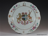 PRIME MINISTER William Pitt Earl Chatham CHINESE ARMORIAL PORCELAIN coat arms crest