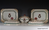 Superb Chamberlains WORCESTER Armorial Porcelain Set IRISH VISCOUNT