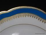 Paris Armorial Porcelain Plates BARON GIRAUD de FOREZ Chateau Minjoud ST PIERRE D'ALBIGNY