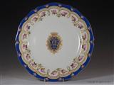Paris Armorial Porcelain Plates BARON ROTHSCHILD Family Crest Coat Arms
