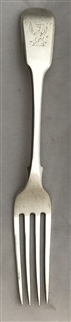 Antique George III Sterling Silver Fiddle Pattern Dessert Fork 1815