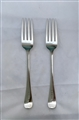 Antique George III Sterling Silver Pair Old English Pattern Table Forks 1797