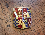 Fine Victorian gold and enamel armorial brooch