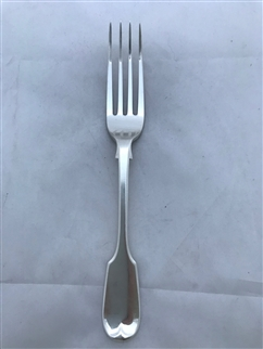 Antique Sterling Silver Victorian Fiddle pattern Dessert Fork 1855