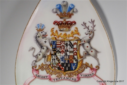 Unique Royal Doulton Earl Dartmouth Legge Family Coat Arms