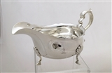 Antique Silver Plated Sauce Boat c.1900