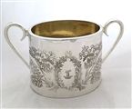 Antique Victorian Silver Plated Sugar Bowl Aesthetic Design c.1880