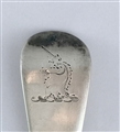 Antique Sterling Silver Hallmarked George II Hanoverian Pattern Table Spoon 1757