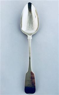 Antique Cork Sterling Silver Hallmarked George III Irish Silver Fiddle Pattern Table Spoon 1820