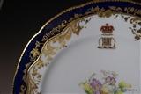 Fine English Armorial porcelain Plate MARQUESS Portcullis crest.