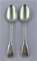 A pair of Antique Silver Hallmarked George III Fiddle Pattern Tablespoons 1813