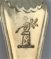 Antique Silver Gilt Sterling Silver George IV Thread Shell and Drop Pattern Childs spoon 1822