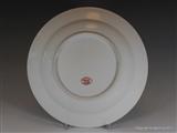 Armorial Porcelain Plate LYON impaling PARKER Coat Arms Crest