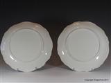Pair Armorial Porcelain Plates BARON HOOD Coat Arms Crest