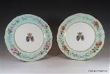 Pair Armorial Porcelain Plates MARQUIS DE CHAMBRUN Pineton