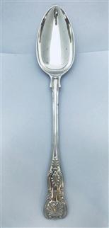 Wonderful Antique Edwardian Hallmarked Sterling Silver King's Pattern Gravy Spoon, 1908