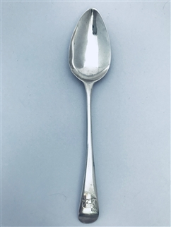 Antique GeorgeIII Sterling Silver Hallmarked Old English Pattern Dessert Spoon 1801