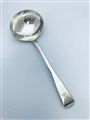 Antque George III Sterling Silver Hallmarked Old English Pattern Sauce Ladle, 1804