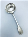 Antique George IV Sterling Silver Fiddle Pattern Sauce Ladle 1822