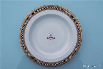 Armorial Porcelain Plate LITTLEJOHN Family Coat Arms Crest