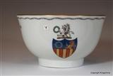 English Armorial Tea Bowl  GARLAND Family Crest Coat Arms