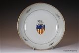 Chinese Armorial Porcelain Saucer GARLAND Family Crest Coat Arms